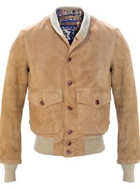 P2550 - Suede A-1 Leather Bomber Jacket | Style | Pinterest