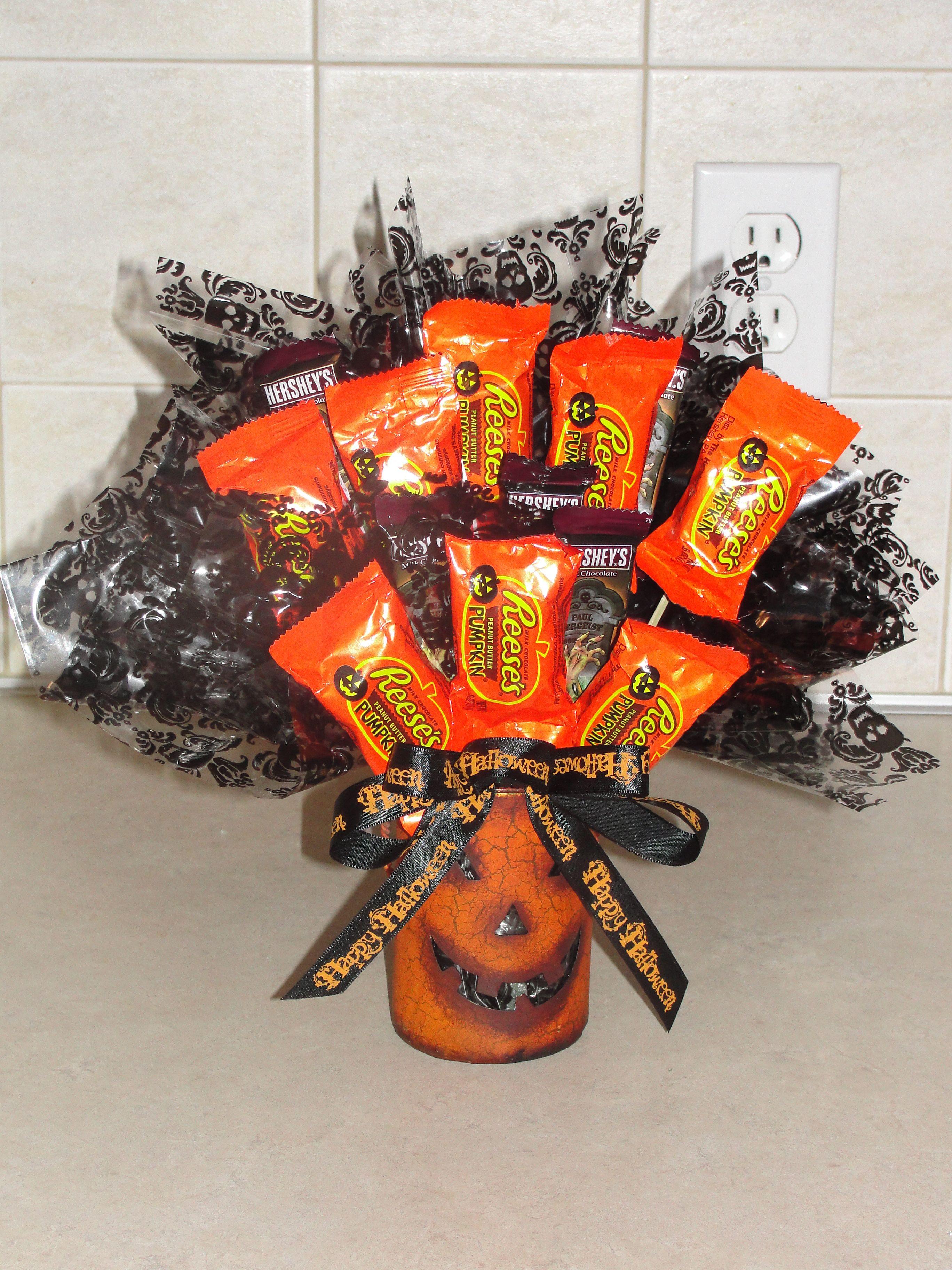 Halloween candy gift baskets