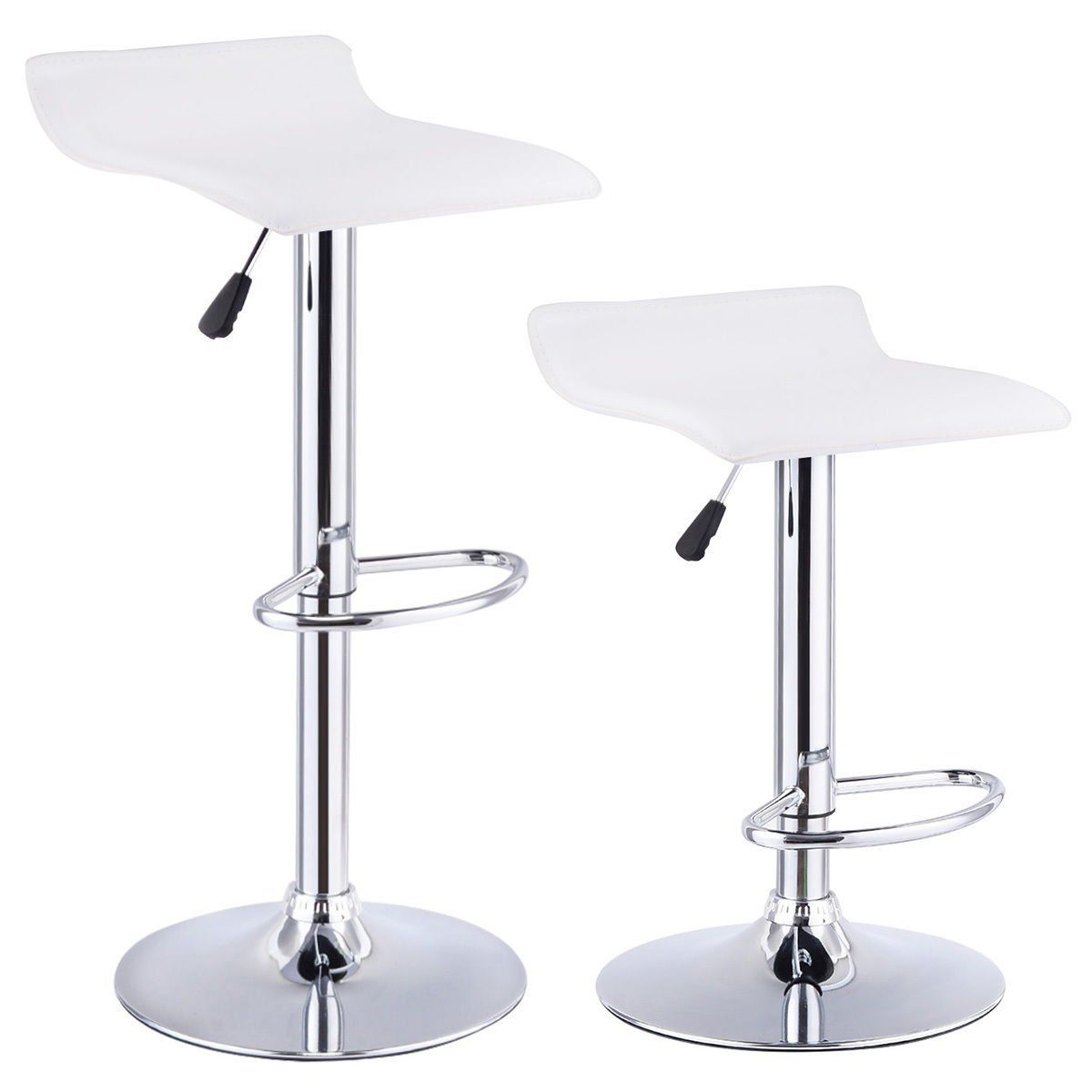 AmazonSmile: Costway Set Of 2 Swivel Bar Stools Adjustable PU ...