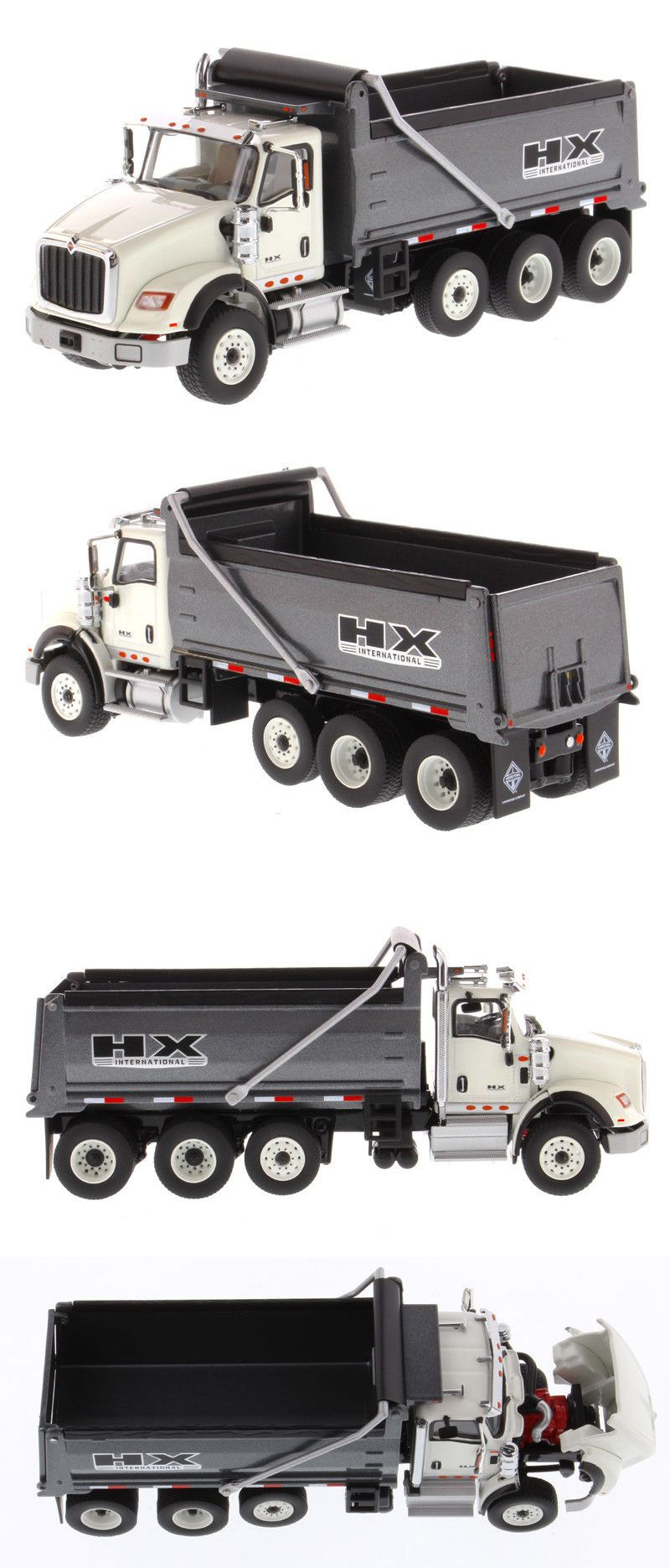 Diecast And Toy Vehicles 222 International Hx620 Dump Truck White With Grey Bed 1 50 Diecast Masters 71013 Buy It Now Only 72 Dump Trucks Diecast Trucks