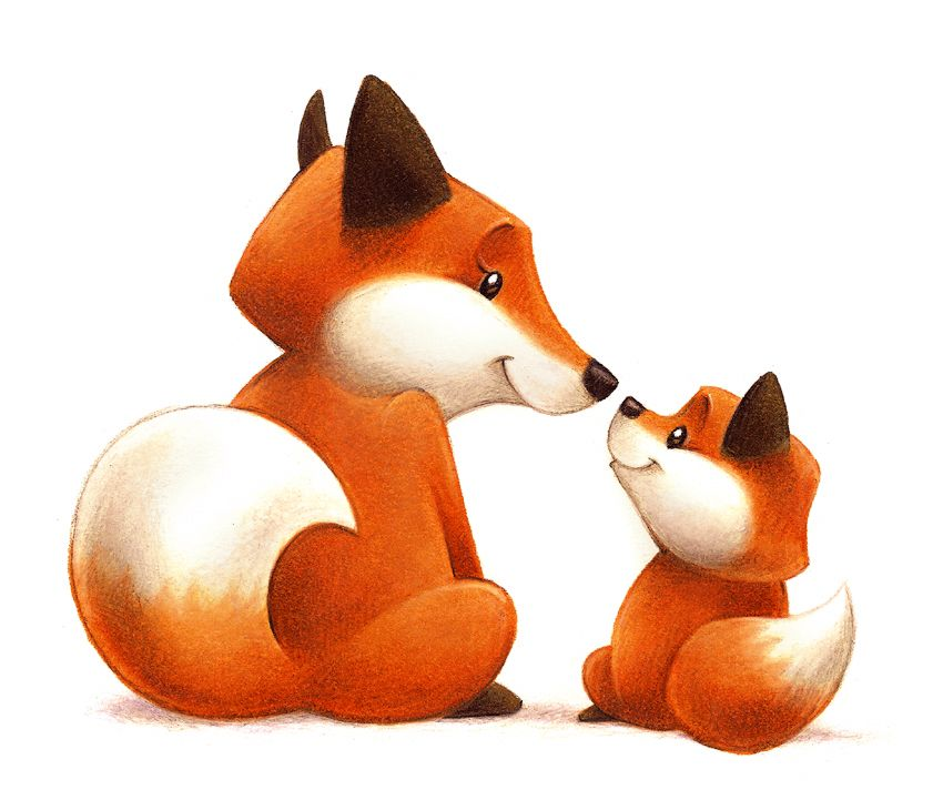 Mama fox and baby fox by aaron zenz my work pinterest dessin renard renard and dessin - Dessin renard ...
