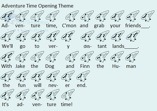 Adventure Time Opening Theme Randomness Pinterest