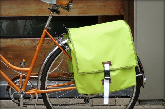 Pair Of Bike Panniers Blue Pattern Interior Large By Simpleaspi