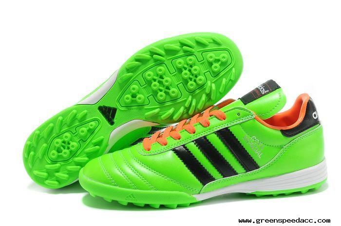 2014 Brazil World Cup Adidas Copa Mundial TF Soccer Shoes Green Orange Black