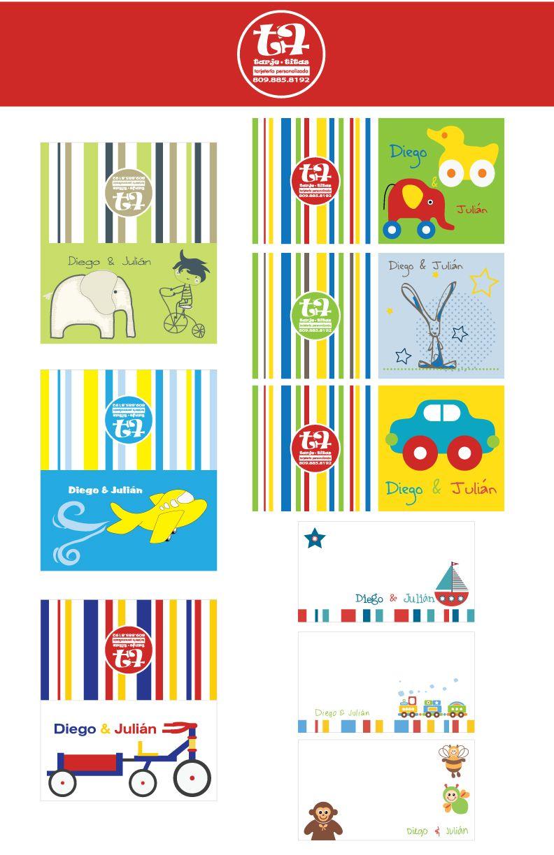 Tarjetas Personalizadas Para Regalos Kids Cards Kids Personal Name Stickers
