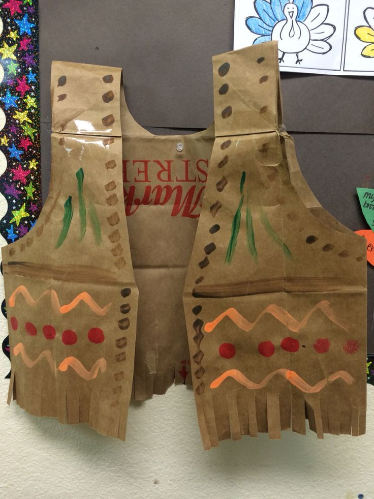 Thanksgiving indian vest best of thanksgiving for How to make native american arts and crafts