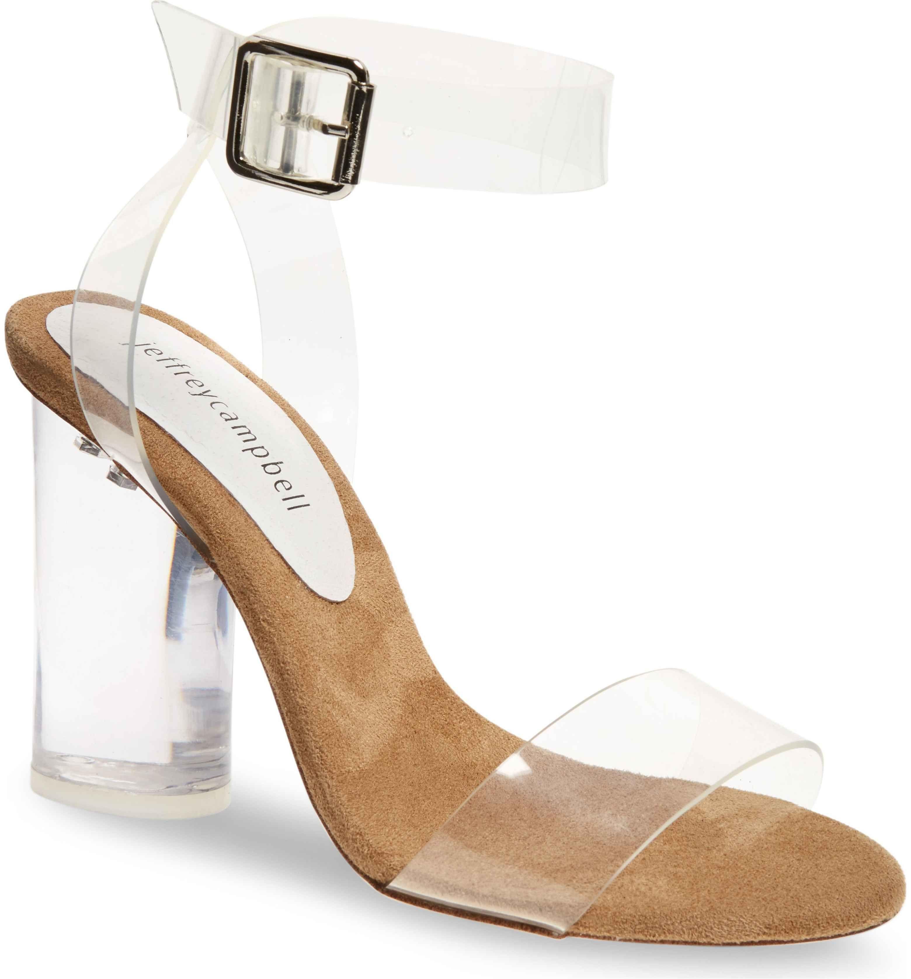 9f85ba09f07 Main Image - Jeffrey Campbell Clear Heel Sandal (Women) | 99 ...