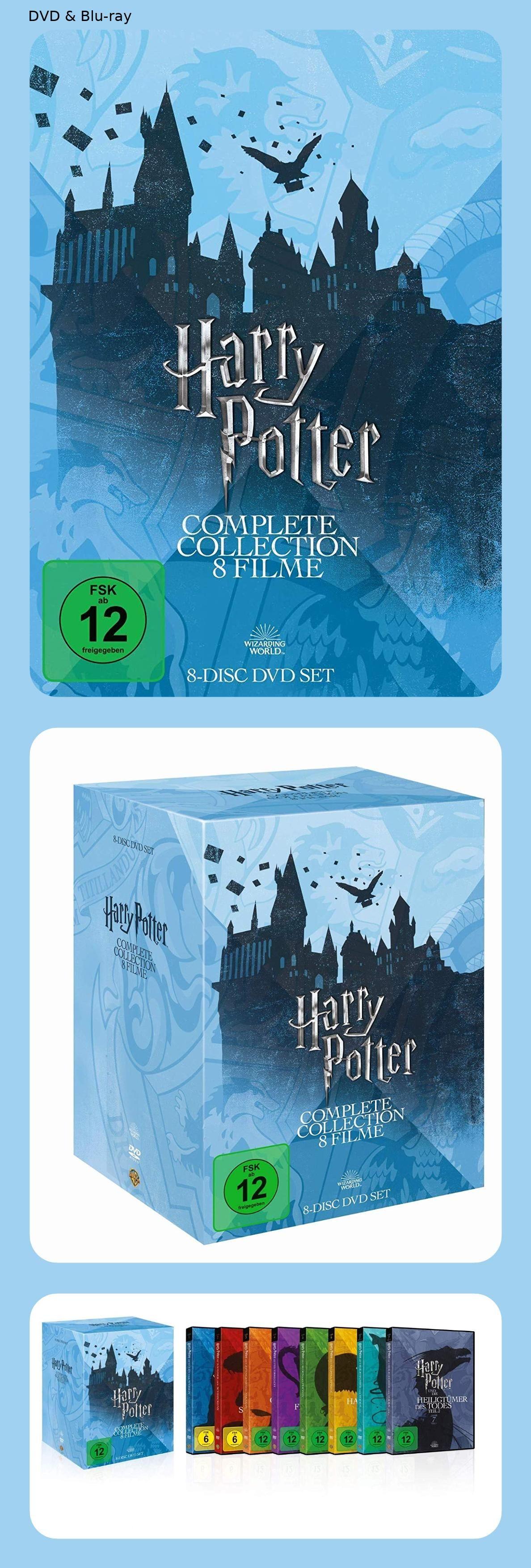 33 Billiger Von 29 99 Auf 19 99 Harry Potter The Complete Collection 8 Dvds Orden Des Phoenix Der Gefangene Von Askaban Heiligtumer Des Todes