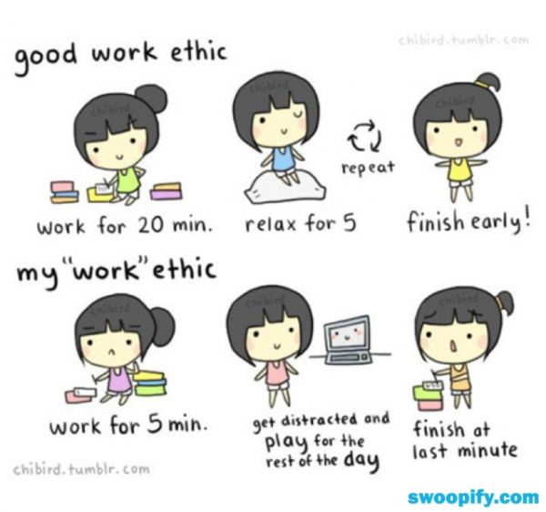 My Work Ethic Humor Lol Funny Chibird Good Work Ethic Cute Quotes