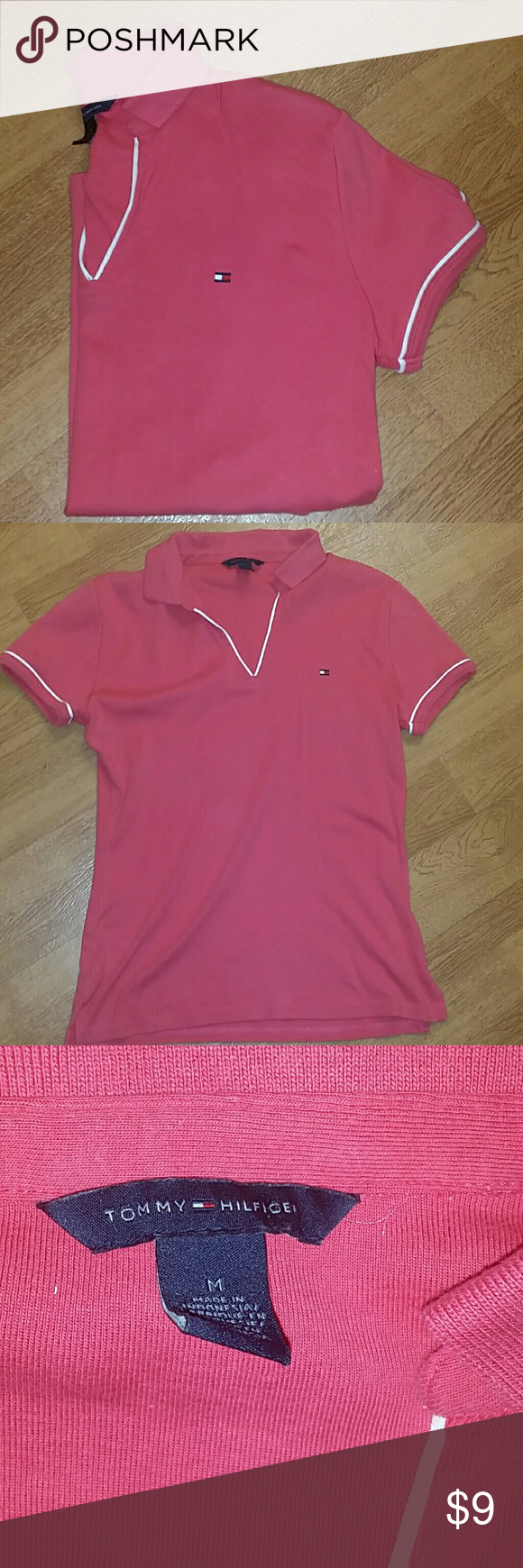 NL tommy Hilfiger coral top Nice top Light pilling Good condition Tommy Hilfiger Tops Blouses