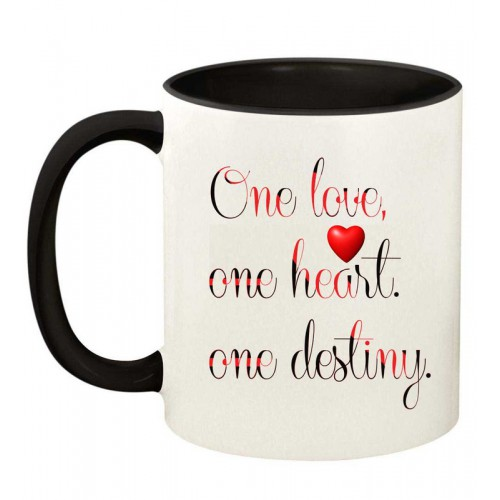 Juvixbuy Printed One love one heart one destiny Inside