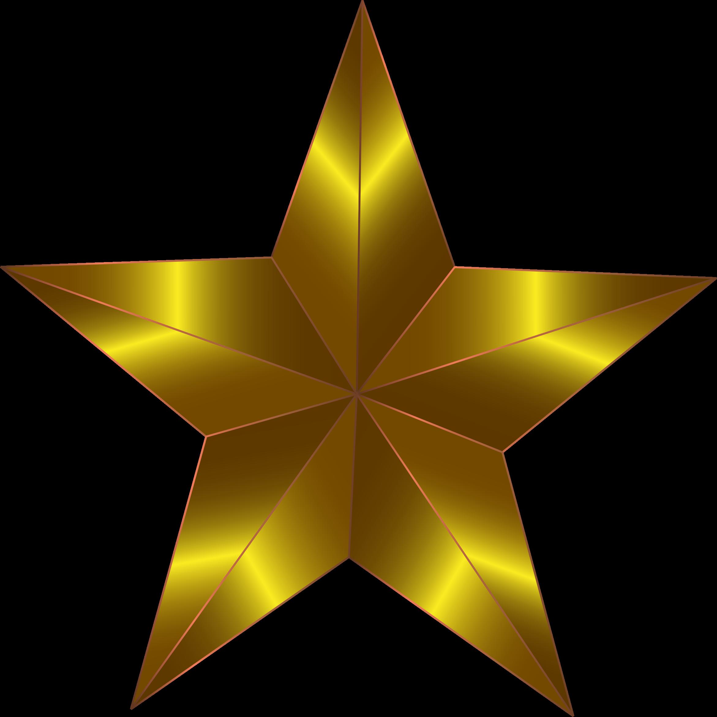 3d Gold Star Png File Png Mart