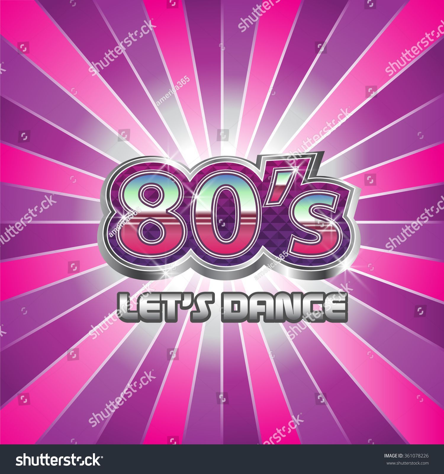 80s Dance Party illustration Vector graphic #party #80