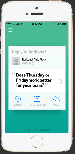 App to help you identify and respond to actionable emails.