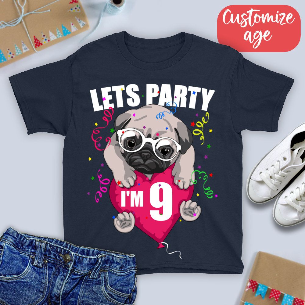I'm Nine Lets Party Shirt/ Nine Year Old Birthday TShirt