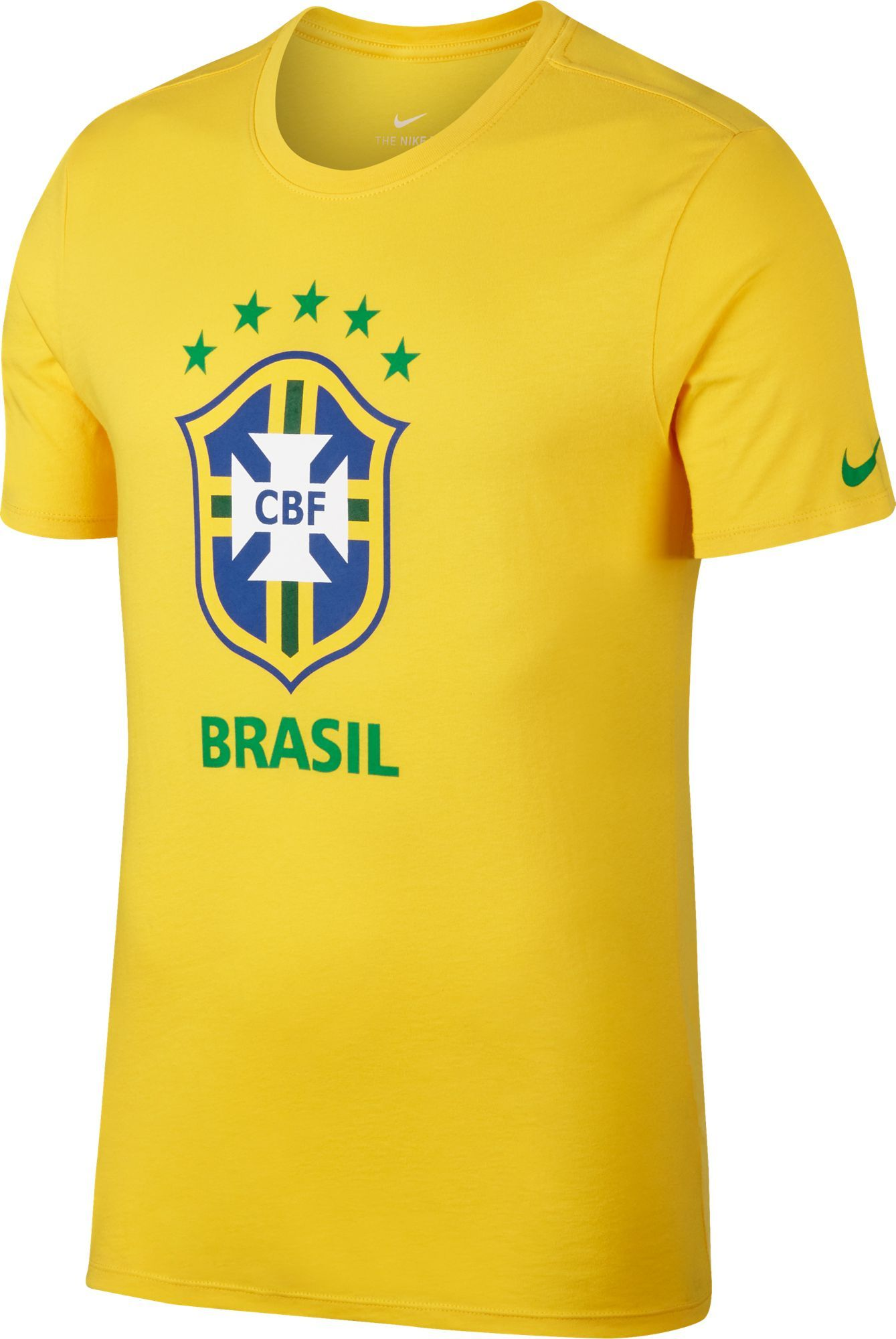 03f6408d0 Nike Men s 2018 FIFA World Cup Brazil Crest Yellow T-Shirt ...