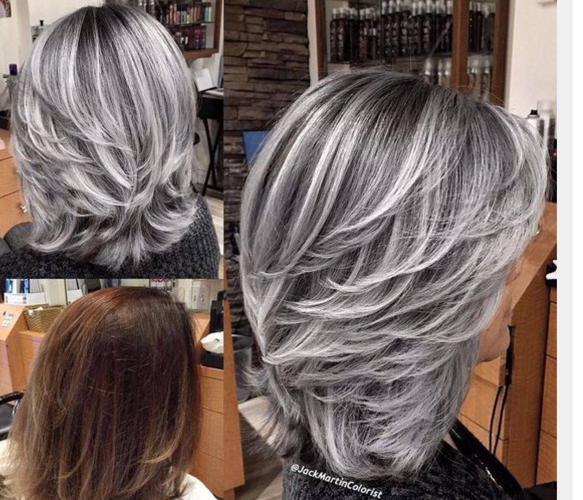 When I Go All Grey It S Going To Be Stylish Not Old Fashioned Hair Styles Gray Hair Highlights Silver Hair Color