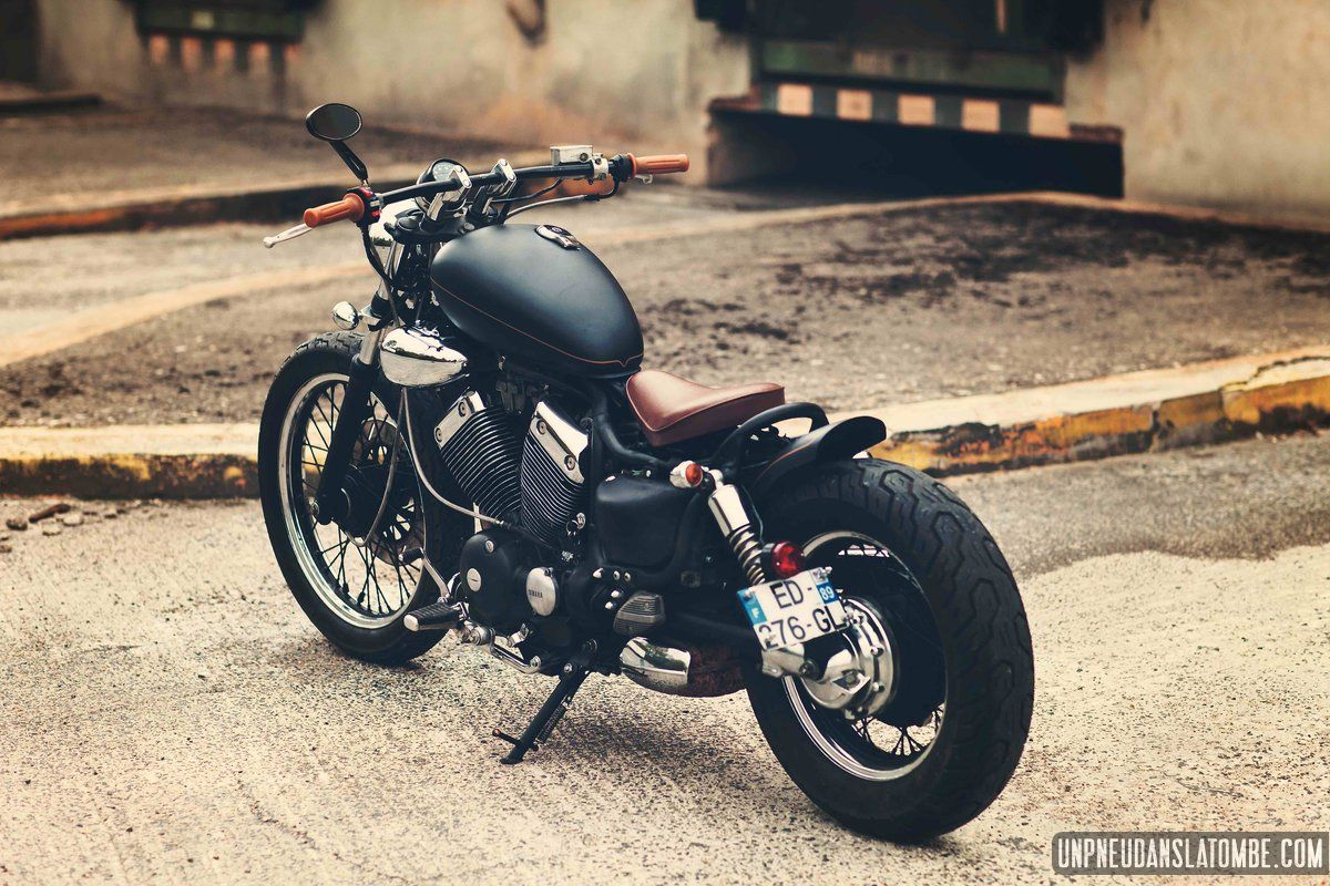 yamaha 535 virago un custom jeune permis sign vini garage company mon homme moto et envie. Black Bedroom Furniture Sets. Home Design Ideas