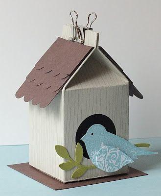 Milchkarton vogelhaus diy ostern pinterest basteln - Vogelhaus basteln ...