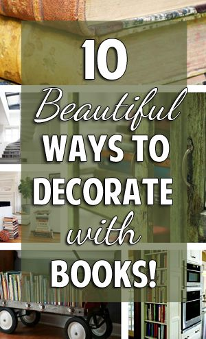 Decorating With Books Alluring 10 Beautiful Ways To Decorate With Books  Having Books In The Design Inspiration