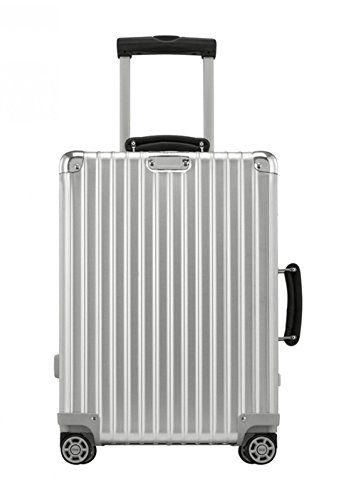 Rimowa Classic Flight Iata Carry On Luggage 21 Inch Cabin Multiwheel 33l Tsa Suitcase Silver Rimowa Rimowa Topas Luggage