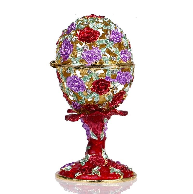 Box 6 Butterfly on Clear Glass Effect  Easter Eggs Hanging Decoration Hunt