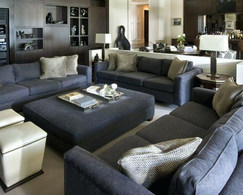 Dunkelgrau Couch Wohnzimmer Pinterest