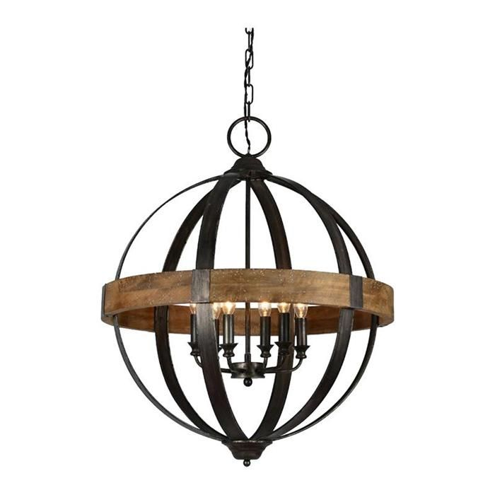 Bristol 6 light chandelier nebraska furniture mart