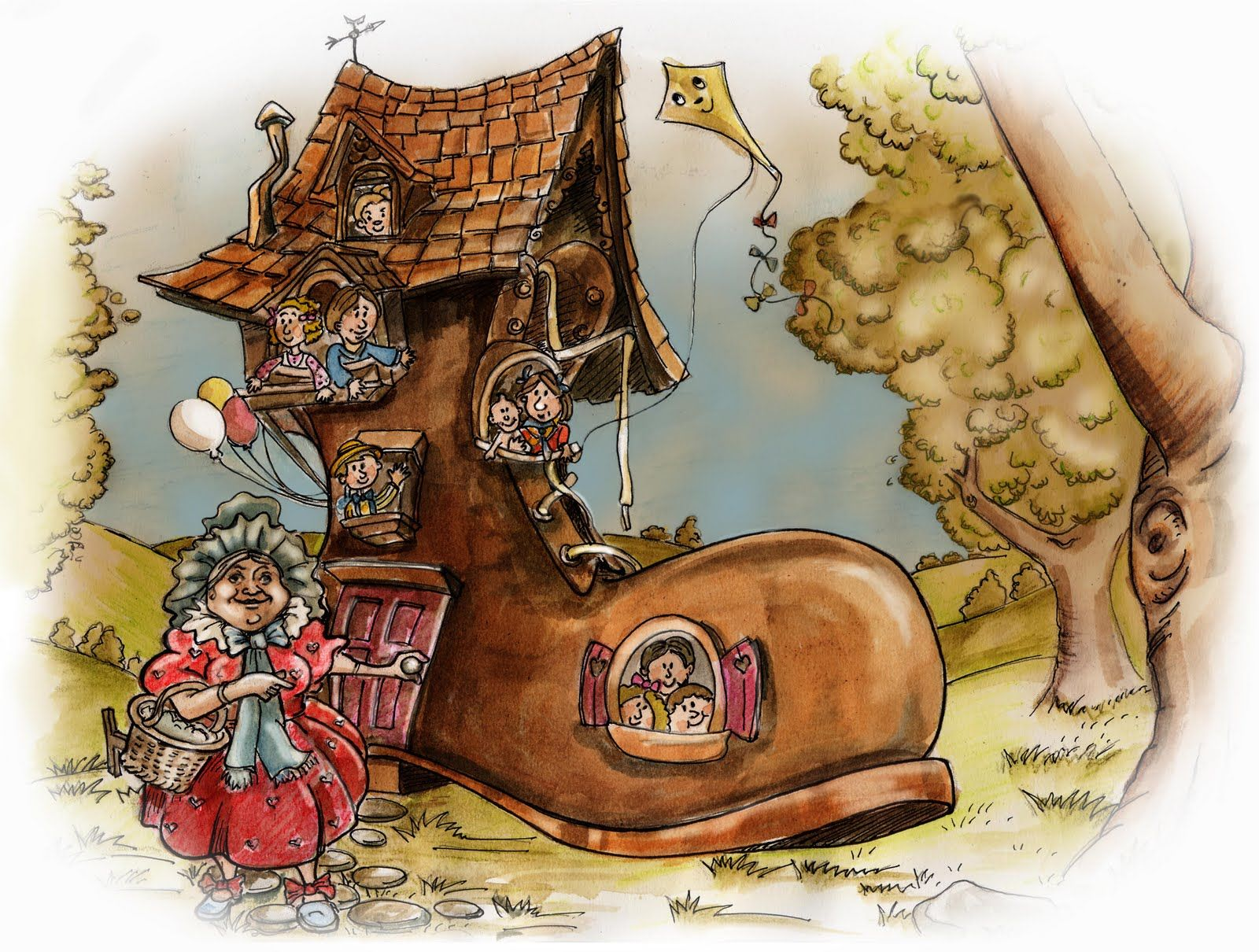Image result for the old lady who lived in a shoe