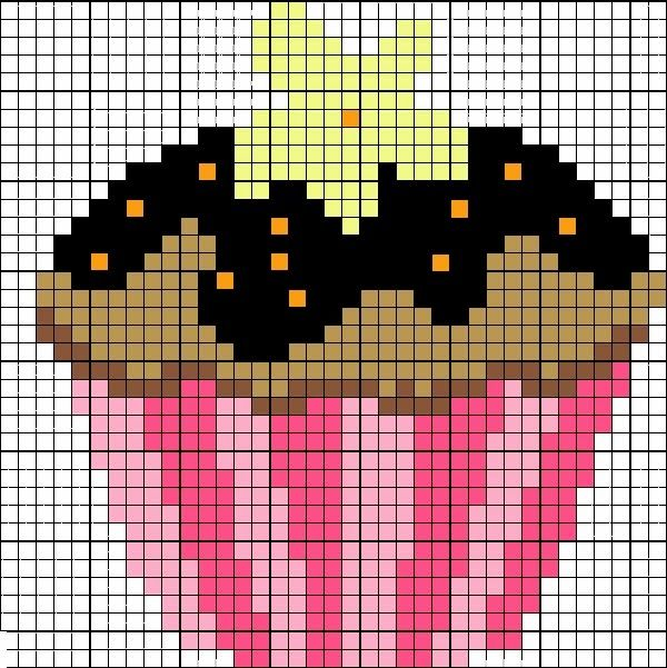 Patrones de cupcakes en punto de cruz | Hacer cupcakes, El punto y ...