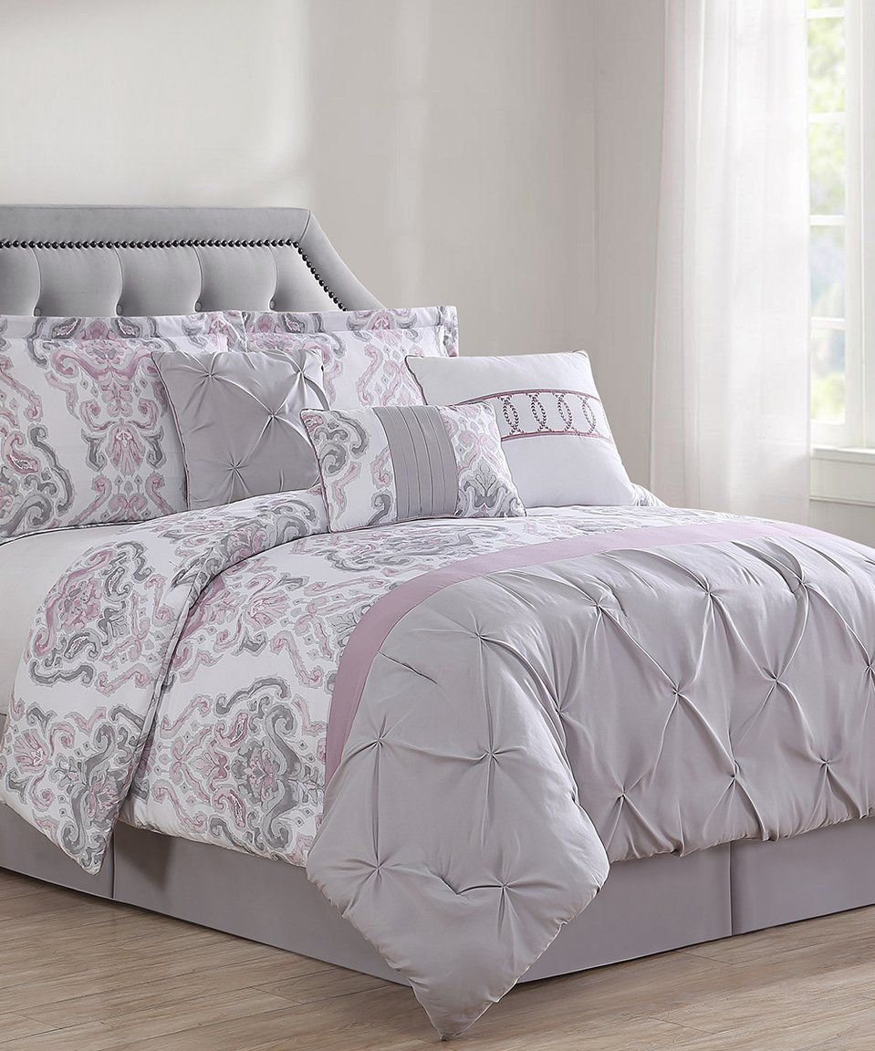 Comforter Sets With Curtains Take A Look At This Berry Gray Colleen Comforter Set Today