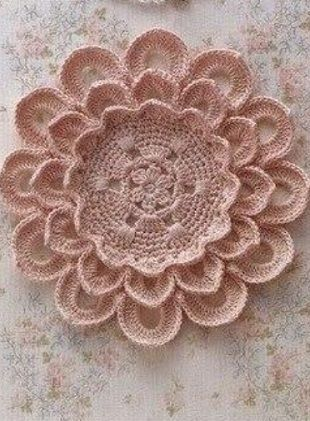 Crochet Flower Doily With Diagram Crochet Pinterest Crochet