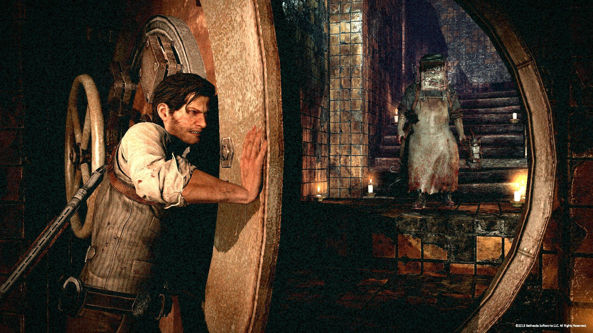THE EVIL WITHIN Survival Horror Dark Blood Gd Wallpaper