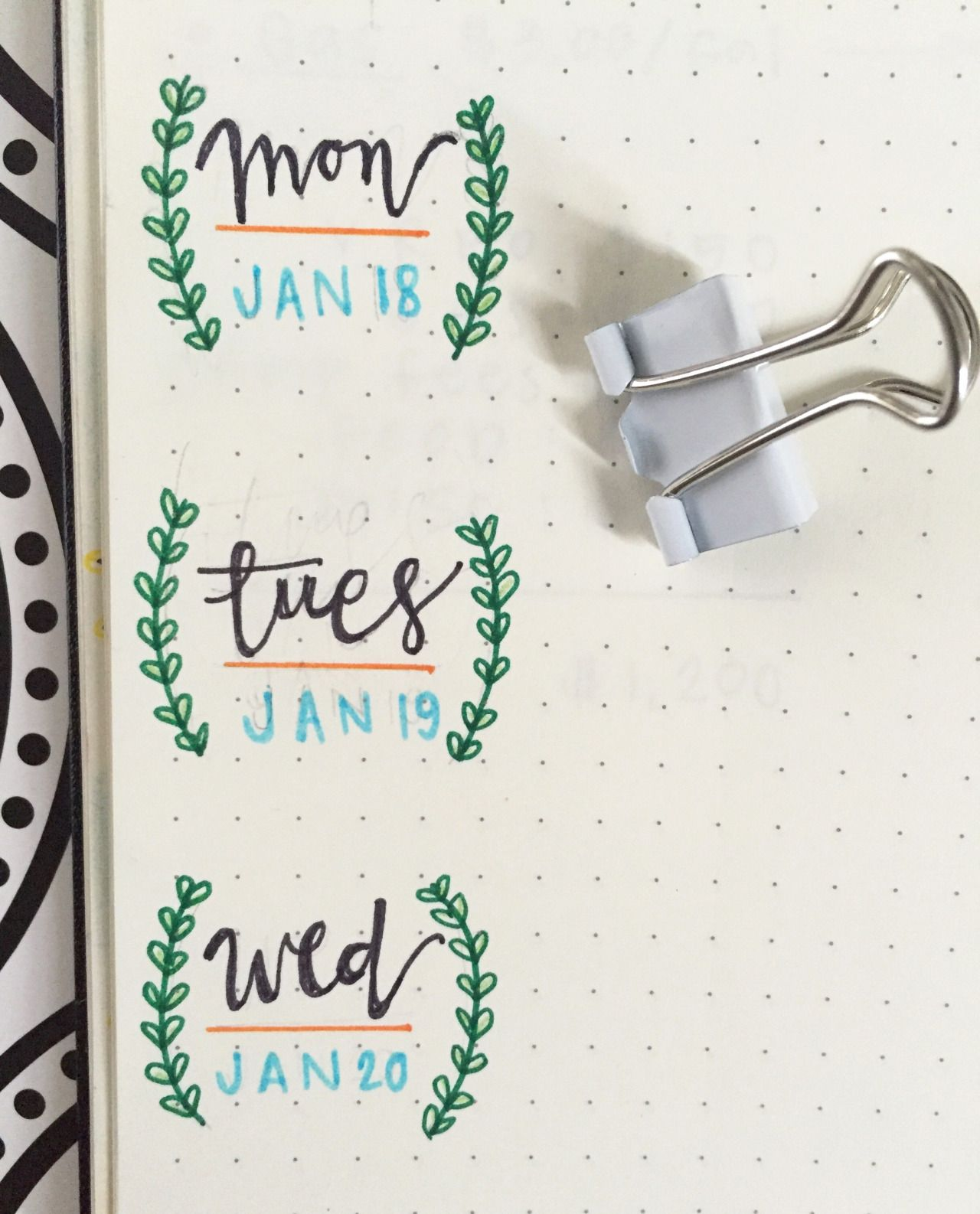 """time-to-get-focused: """" In love with this next week's layout!  Using all these different banners is awesome and I really think my handwriting is starting to show improvement! By:...  Bullet journal bujo daily log weekly log"""