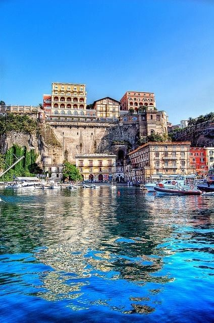 Sorrento, Italy. This place is absolutely breathtaking! And one of the only places in the world to obtain beautiful and intricate inlaid wood.
