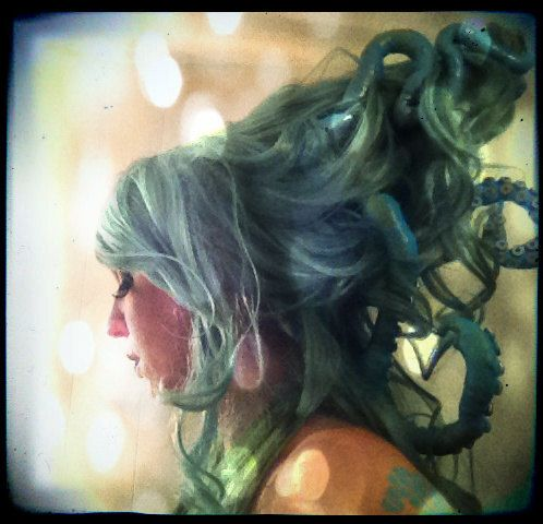 Steampunk Wig- Sea Witch Custom Wig with Octopus Tentacles- Made to Order on Etsy, $139.00