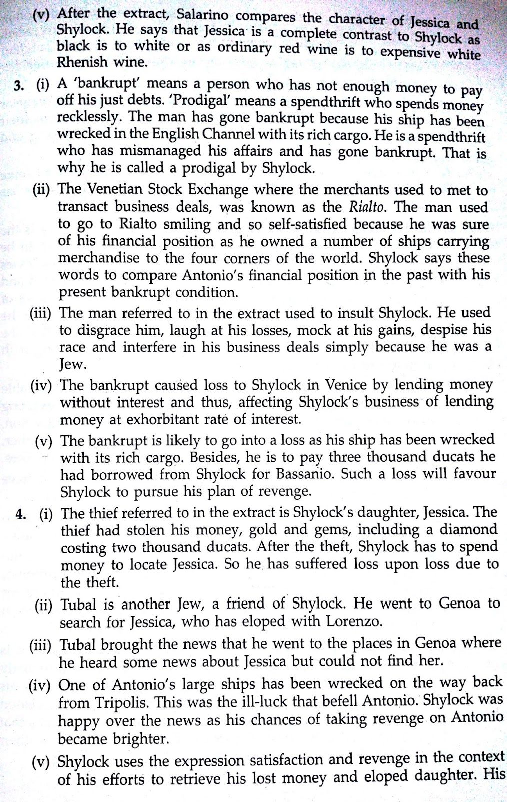 merchant of venice act2 scene3 solved workbook question