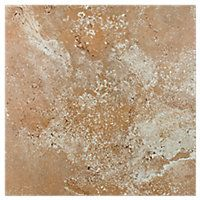 Toronto Light Brown Ceramic Wall and Floor Tile - 14 x 14 in - The ...