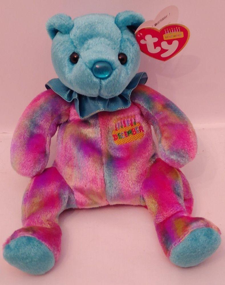 8c8e57c8bcd Ty Beanie Baby December Birthday Bear Birthstone Turquoise 2001 Mint Tags  Plush  Ty