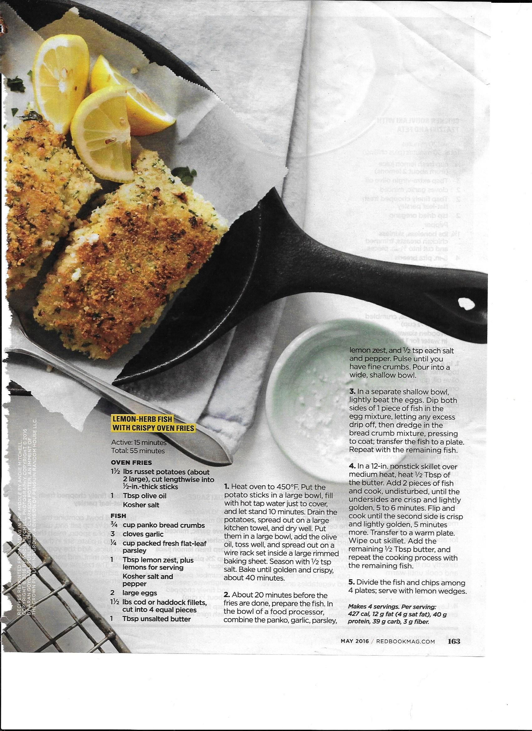 Lemon-Herb Fish with Crispy Oven Fries