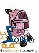 Best Pet Strollers Travel Pets Storage 4-Wheel Classic Pink Dogs Cats Buddy NEW #BestPet
