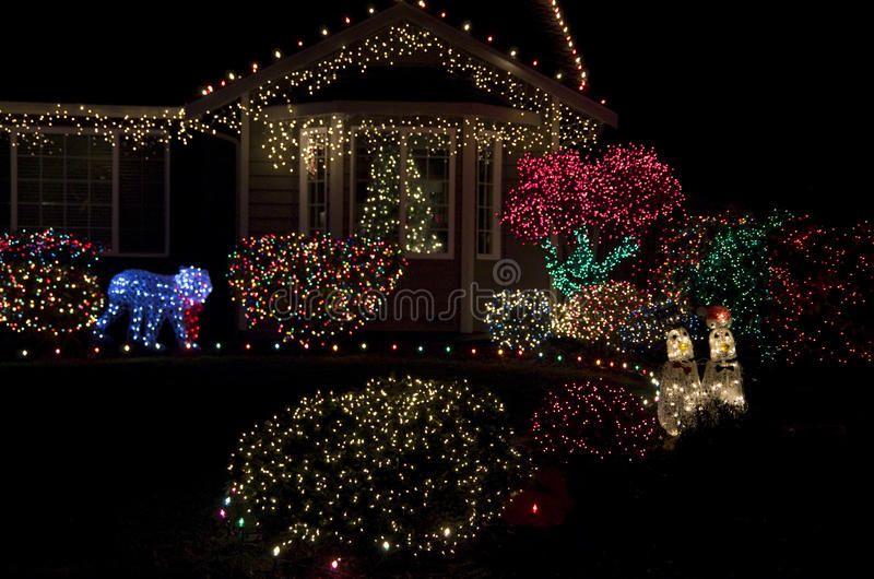 Beautiful Home House Christmas Lights Lighting Beautiful Christmas Lights Of A Nice Home Near Seattle Ad Ad Spon In 2020 Christmas Lights Lights Beautiful Homes