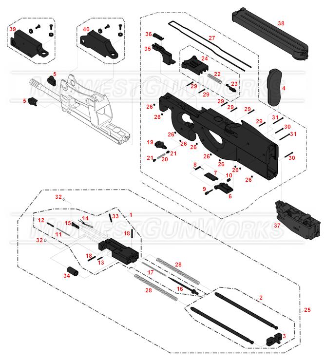 P90 Exploded Diagram - DIY Wiring Diagrams •