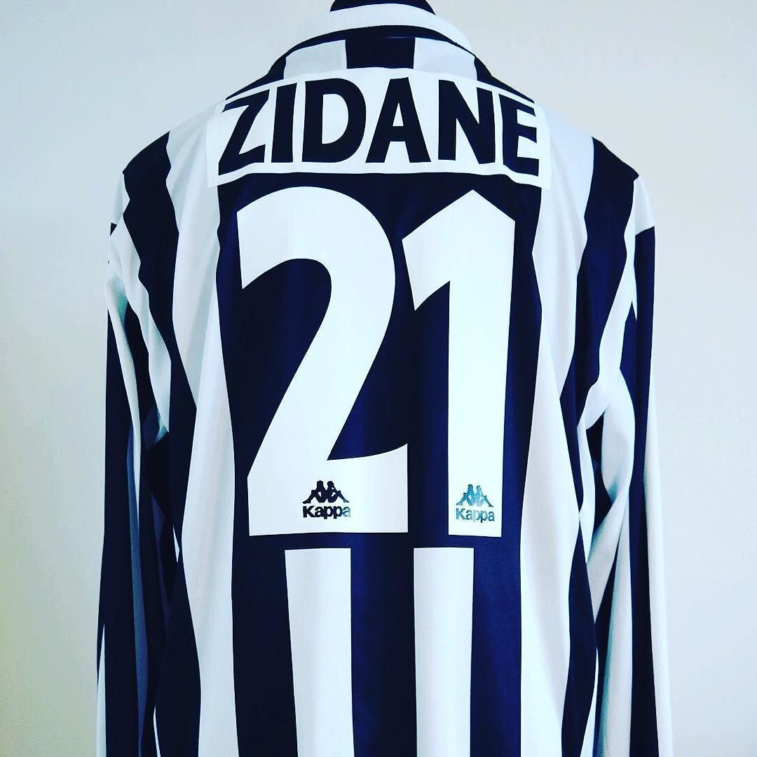 hot sale online ed65d 003ae 1996-97 Juventus Home Football Shirt Adult XL ZIDANE #21 L/S ...