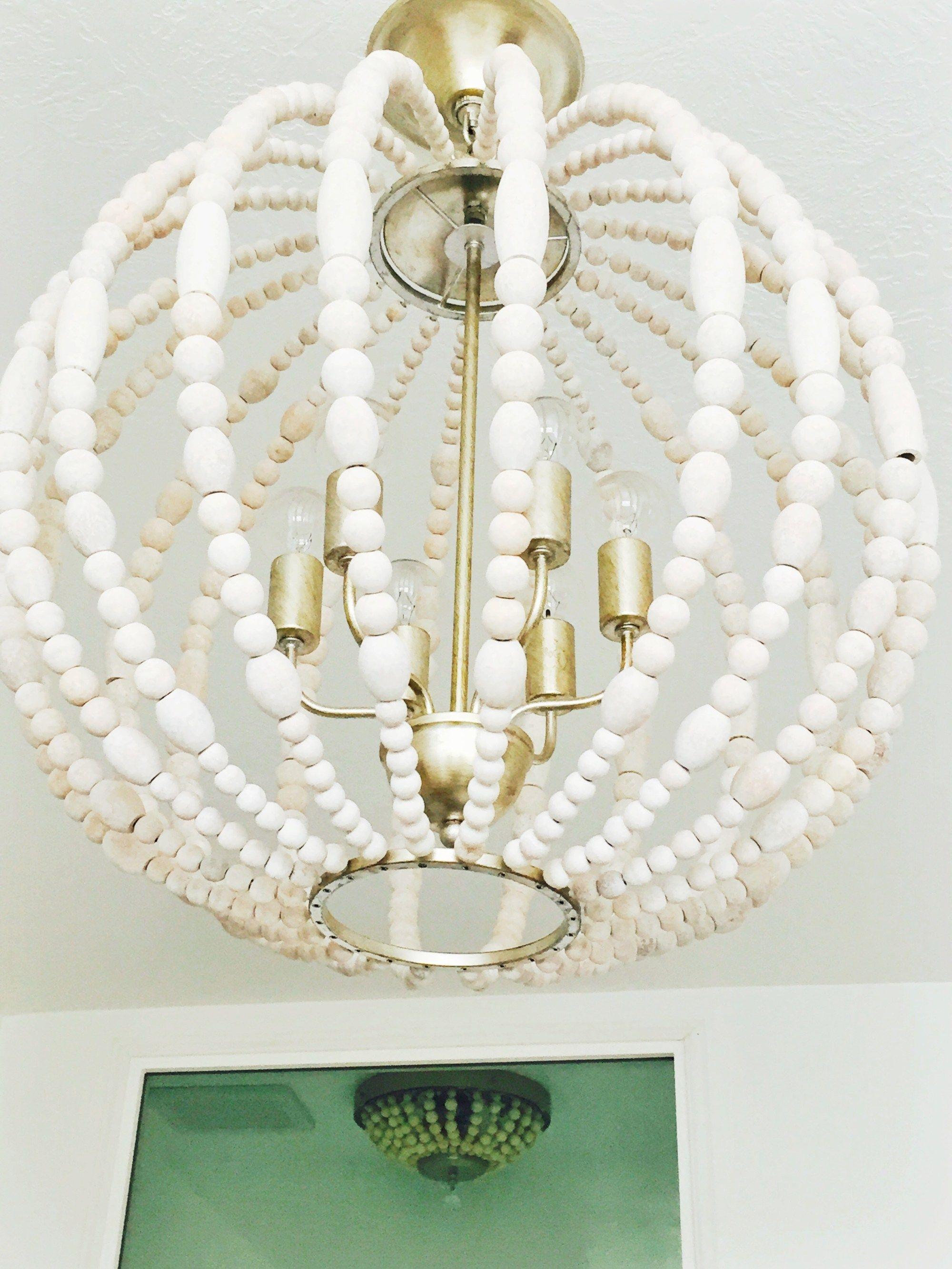Wood bead chandelier light fixture how to make your own wood bead wood bead chandelier light fixture how to make your own arubaitofo Gallery