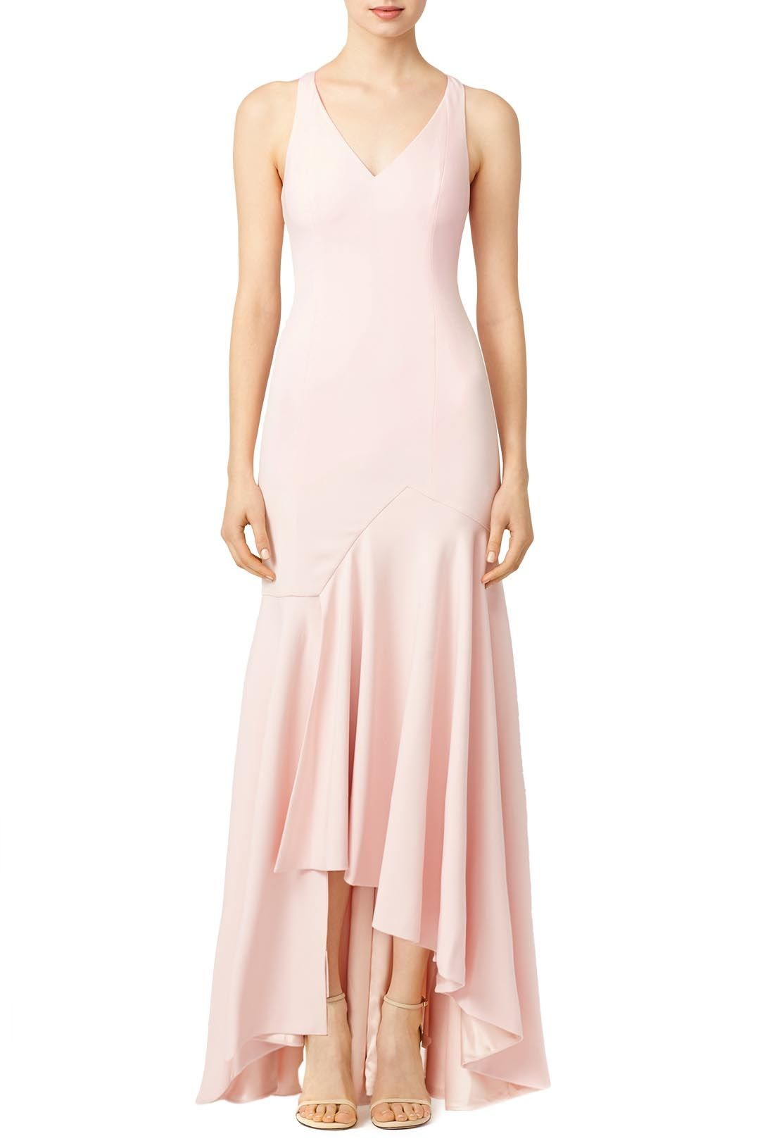 fb4dab8b4b Back cutouts give this Jay Godfrey gown an added hint of elegance. Show off  this look s asymmetrical hem when you pair it with strappy sandals.