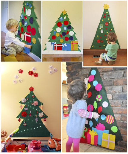 Arbol navidad pared buscar con google navidad - Manualidades de navidad para ninos de preescolar ...