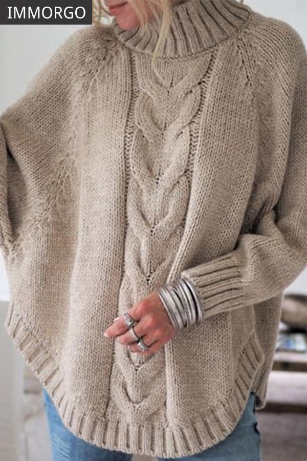 Giacche a Maglia donna Cardigan Manica Pipistrello Cappotto A Maglia Pullover Poncho