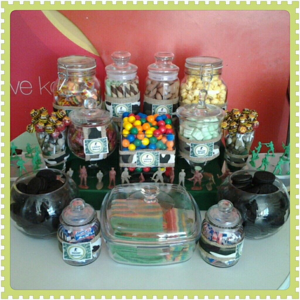 Raf's Candy Buffet Army Themed