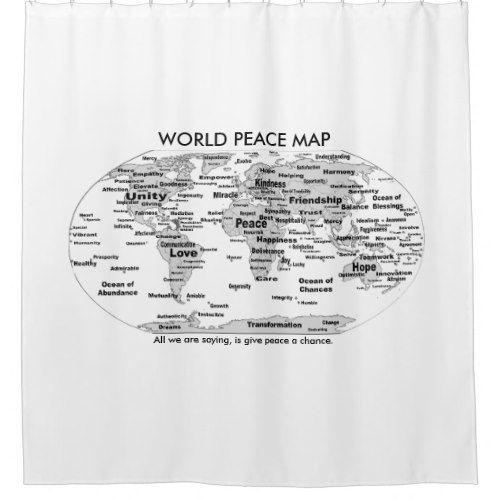 World Peace Map Shower Curtain